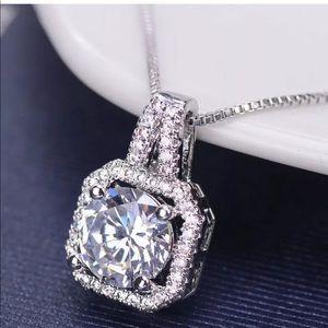 Pendant Chain Statement Choker diamond Necklace